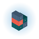 empty container park cargo containers stacked icon