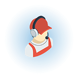 cargo owner person with headset icon